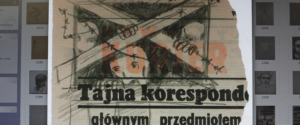 Pierre-François Moreau - © Joseph Richter, Copie informatique d'un dessin clandestin à la Ghetto Fighter's House – qui possède l'une des plus vaste collection d'œuvres issues des camps nazis. Jour2Fête