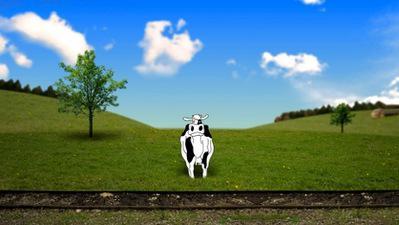 La Vache qui tâchait de chercher ses taches