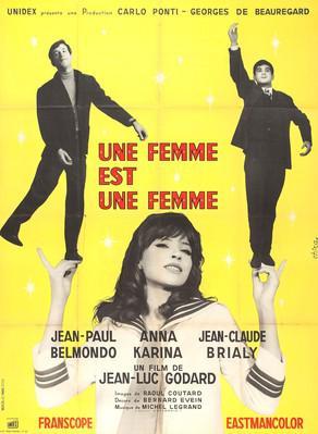 Una mujer es una mujer - Poster France