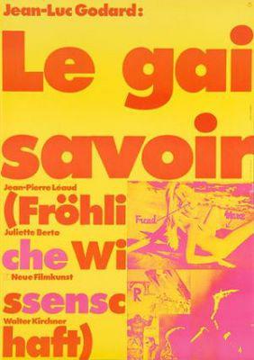 Le Gai Savoir - Poster Allemagne