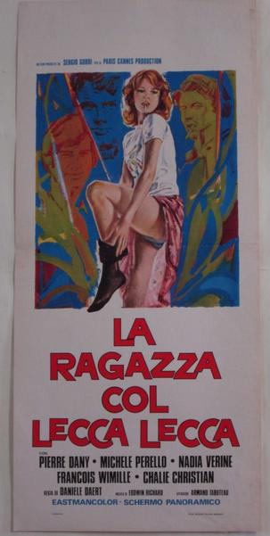La Fille à la sucette - Poster Italie