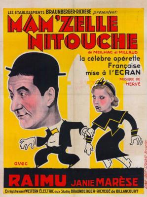 Mam'zelle Nitouche - Poster Belgique