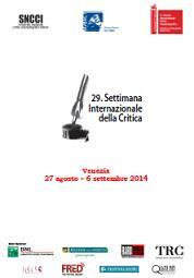 International Critics' Week - Venice - 2014