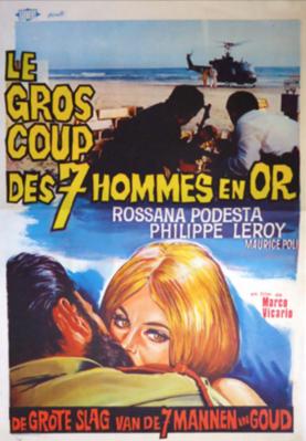 El Gran golpe de los siete hombres de oro - Poster - Belgium
