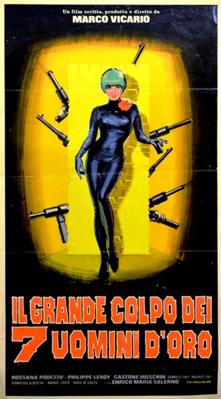 Seven Golden Men Strike Again - Poster - Italy