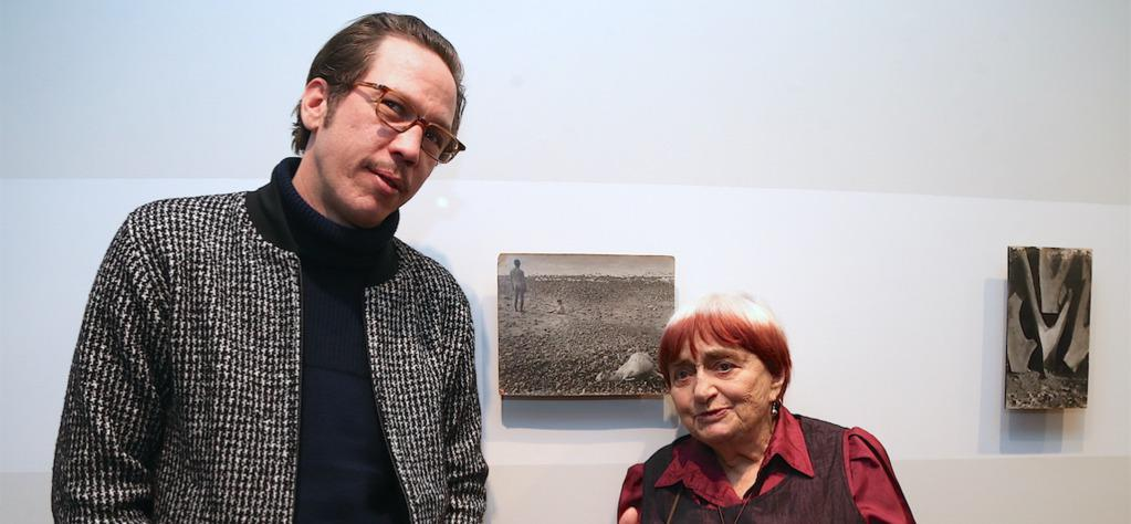 A very fine edition of the 22nd Rendez-Vous With French Cinema in New York - Reda Kateb et Agnès Varda à son expositio chez Blum & Poe - © Bestimage