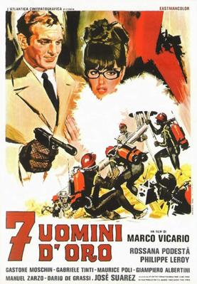 Siete hombres de oro - Poster - Italy