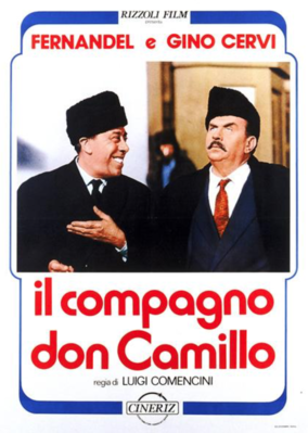 Don Camillo in Moscow - Poster Italie