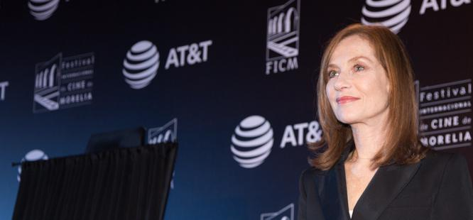 Isabelle Huppert invitada de honor del Festival de Morelia, au Mexique