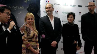 """Back from China, still in a state of shock"" by Hippolyte Girardot - Avec R. Varda et les réals Li Shaohong & Guang Hu"