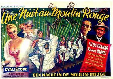 Une nuit au Moulin-Rouge - Affiche belge
