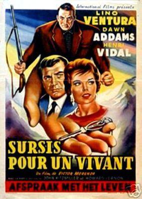Sursis pour un vivant - Poster Belgique
