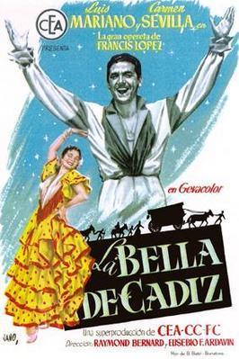 La Belle de Cadix - Poster Espagne