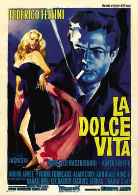 La Dolce Vita (La Douceur de vivre) - Poster Italie