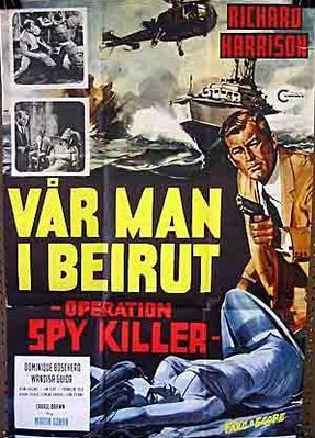 Les Espions meurent à Beyrouth - Poster Suède
