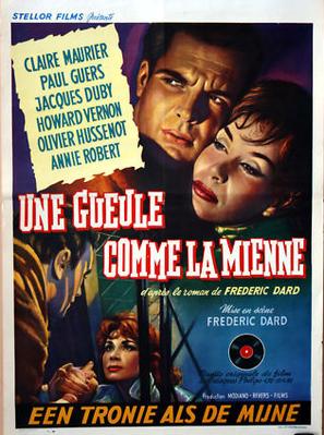 Une gueule comme la mienne (Gestapo contre X) - Poster Belgique