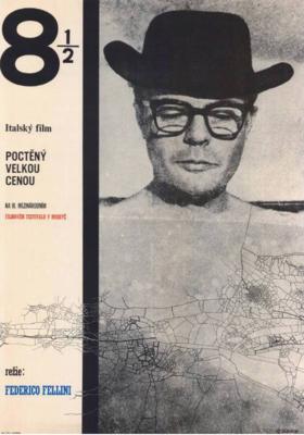 Federico Fellini 8 ½ - Poster Tchécoslovaquie