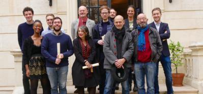 A new record-breaking year for MyFrenchFilmFestival! - © Simon Helloco, Alison Valence, Titouan Labbé, Benoit Martin (La Convention de Genève), Jean-Paul Salomé (Président d'UniFrance)