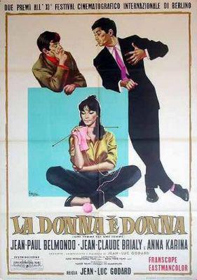 Una mujer es una mujer - Poster Italie