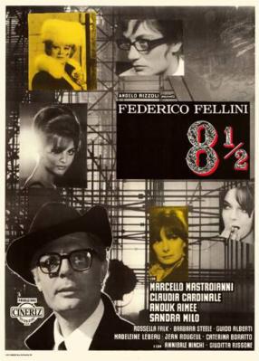Federico Fellini 8 ½ - Poster Italie