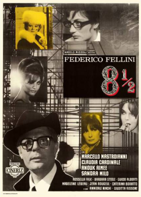 Huit et demi - Poster Italie