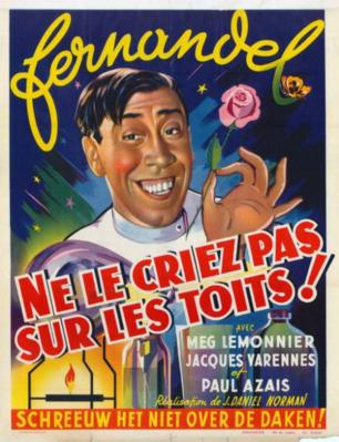 Ne le criez pas sur les toits - Poster Belgique