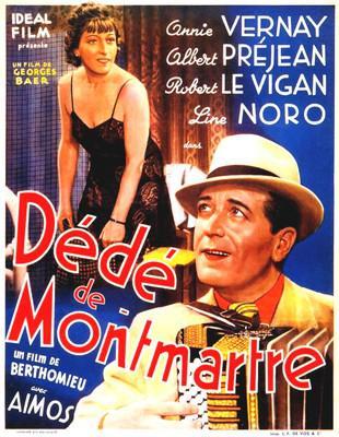 Dédé la musique (ou Dédé de Montmartre) - Poster Belgique