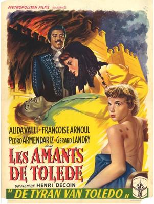 Les Amants de Tolède - Affiche belge