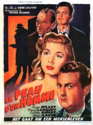 La Peau d'un homme - Poster Belgique
