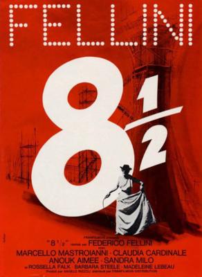 Federico Fellini 8 ½ - Poster ressortie France