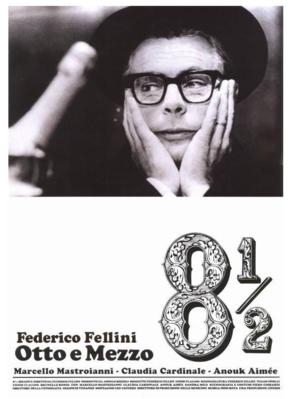 Huit et demi - Poster Italie ressortie