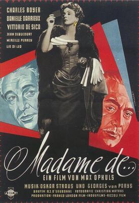 Madame de... - Poster Allemagne