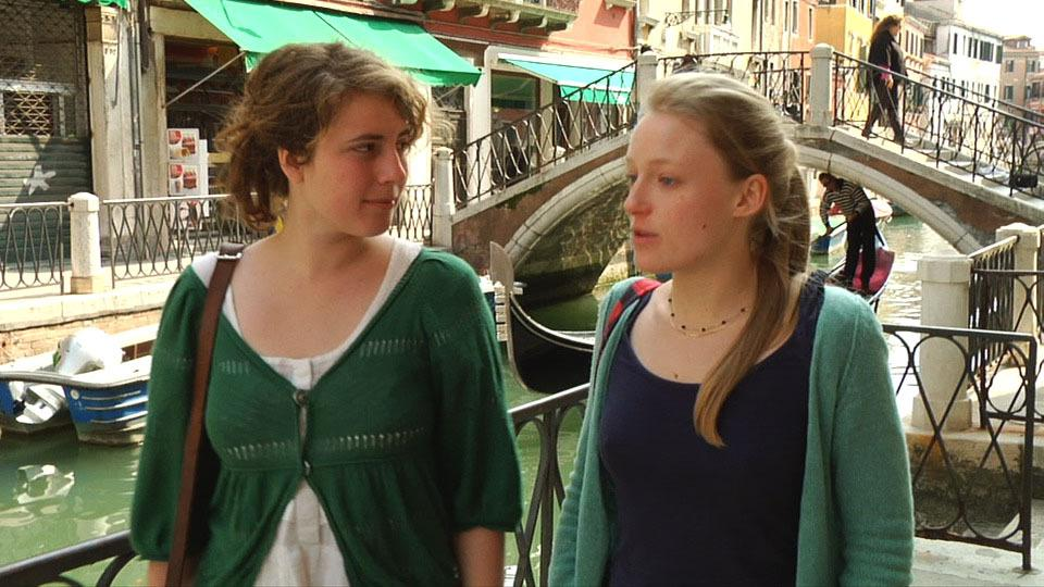 Two Girls in Venice