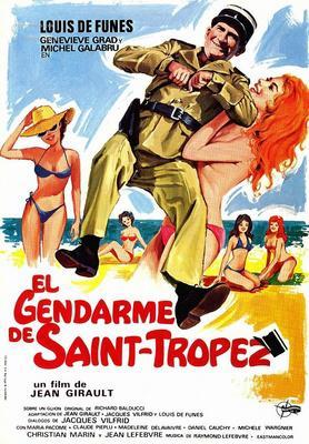 El Gendarme de Saint-Tropez - Affiche espagnole