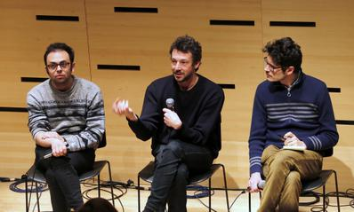 Portfolio - Nathan Silver et Justin Taurand au talk sur les co-productions internationales au Lincoln Center - © Bestimage