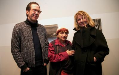 Très belle édition des 22e Rendez-Vous With French Cinema à New York - Reda Kateb et Nicole Garcia entourent Agnès Varda pour son exposition - © Bestimage