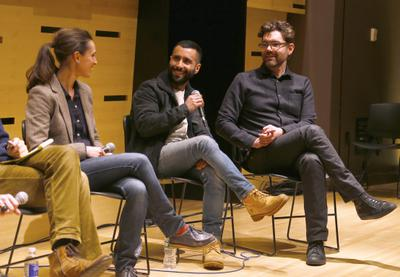 Portfolio - Gaëlle Mareschi, David Hinojosa et Jay Van Hoy au talk sur les co-productions internationales au Lincoln Center - © Bestimage