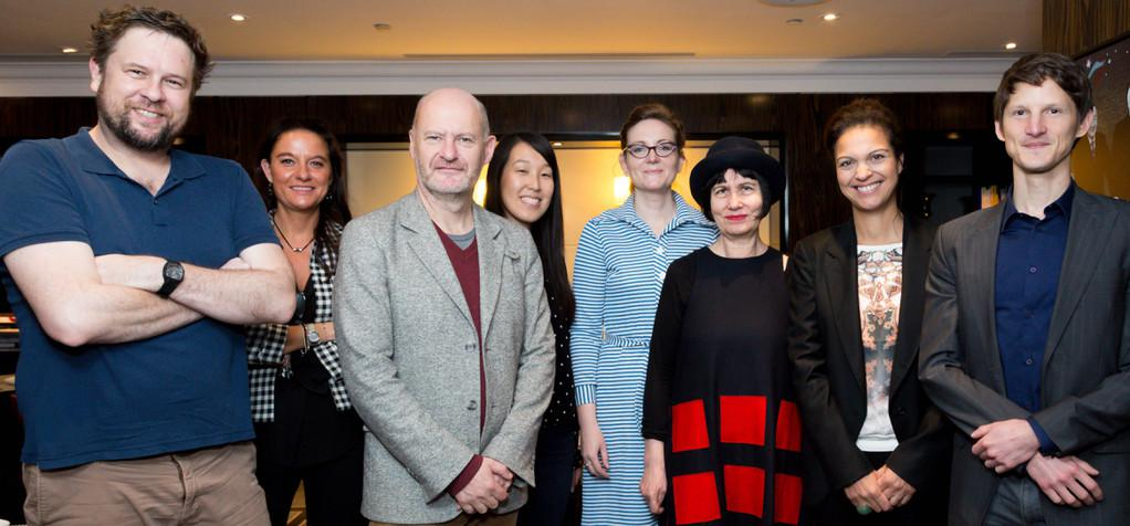 La prensa cinematográfica australiana y neozelandesa invitada a París por Unifrance films - De gauche à droite : DOMINIC CORRY (THE NEW ZELAND HERALD), DELPHINE MARTIN, JEAN-PAUL SALOME, CARA NASH/ FILMINK, FIONA WILLIAMS / SBS TV, PHILIPA HAWKER/ THE AGE & THE SYDNEY MORNING HERALD, ISABELLE GIORDANO ET FREDERIC BEREYZIAT . - © Copyright : Olivier Vigerie / UniFrance films