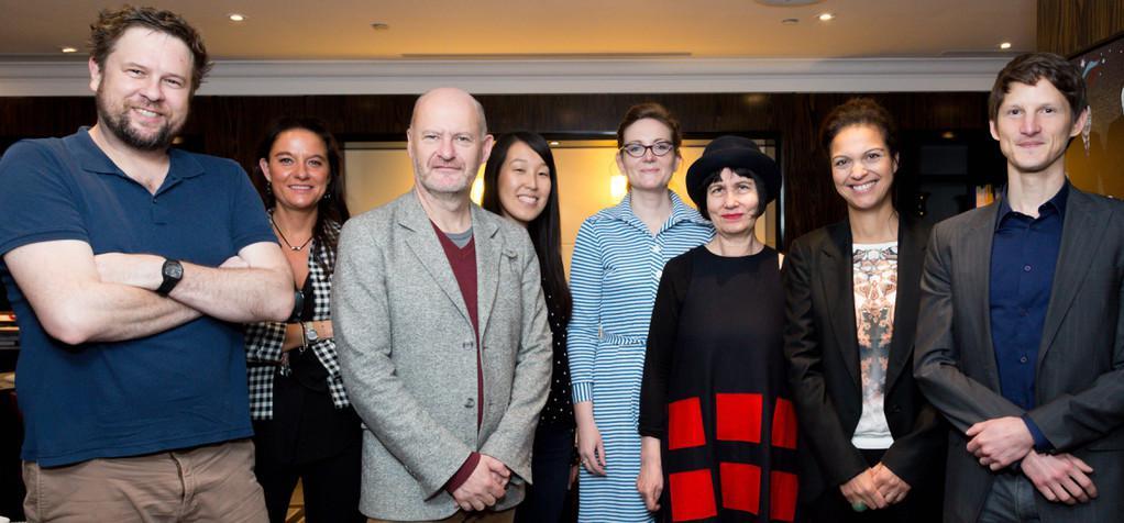 La presse cinéma australienne et néo-zélandaise à Paris à l'invitation d'UniFrance films - De gauche à droite: DOMINIC CORRY (THE NEW ZELAND HERALD), DELPHINE MARTIN, JEAN-PAUL SALOME, CARA NASH/ FILMINK, FIONA WILLIAMS / SBS TV, PHILIPA HAWKER/ THE AGE & THE SYDNEY MORNING HERALD, ISABELLE GIORDANO ET FREDERIC BEREYZIAT. - © Copyright : Olivier Vigerie / UniFrance films