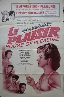 Le Plaisir - Poster Etats-Unis