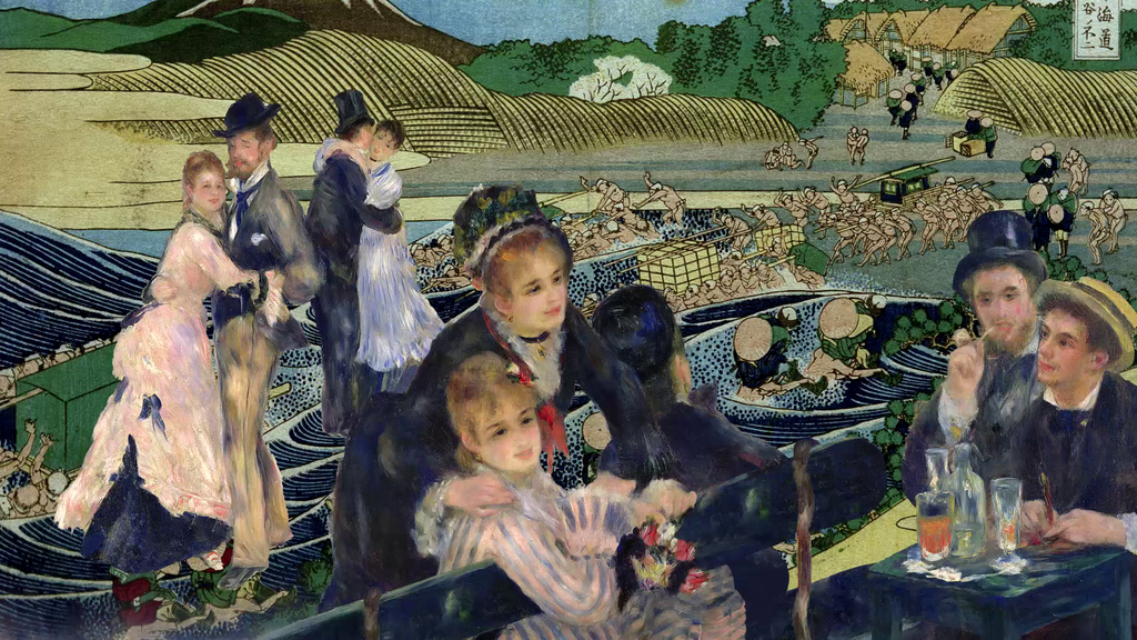 Bal du moulin de la Galette, 1876, Auguste Renoir