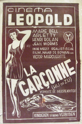 La Garçonne (Jalousie) - Poster Belgique