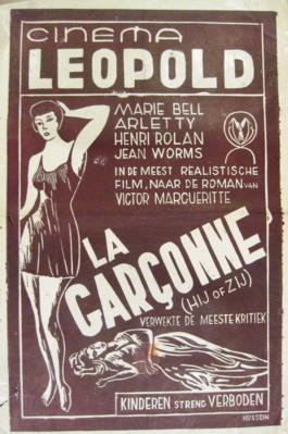 La Garçonne - Poster Belgique