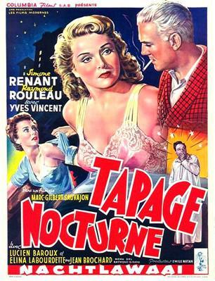 Tapage nocturne - Poster Belgique