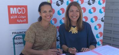 Signature d'un accord-cadre UniFrance - France Médias Monde
