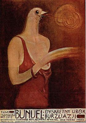 El Discreto encanto de la burguesía - Poster Pologne
