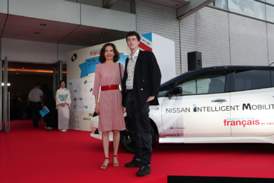 June 21: Opening of the 26th French Film Festival in Japan - Anne Fontaine et Finnegan Oldfield - © Laurent Campus