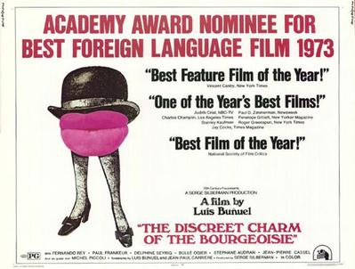 El Discreto encanto de la burguesía - Poster Royaume-Uni