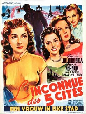 L'Inconnue des cinq cités - Poster - Belgium