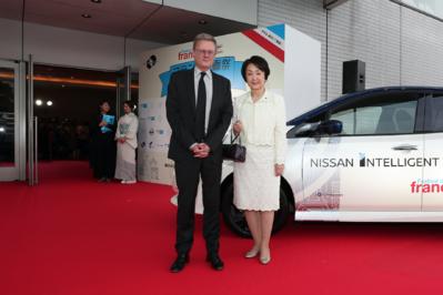 21 de junio: Inauguración del festival - Laurent Pic, ambassadeur de France au Japon, et Fumiko Hayashi, maire de Yokohama - © Laurent Campus